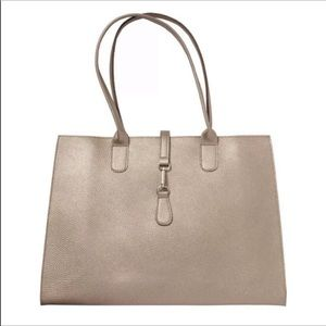 Ulta metallic bronze tote hand bag purse large NWT